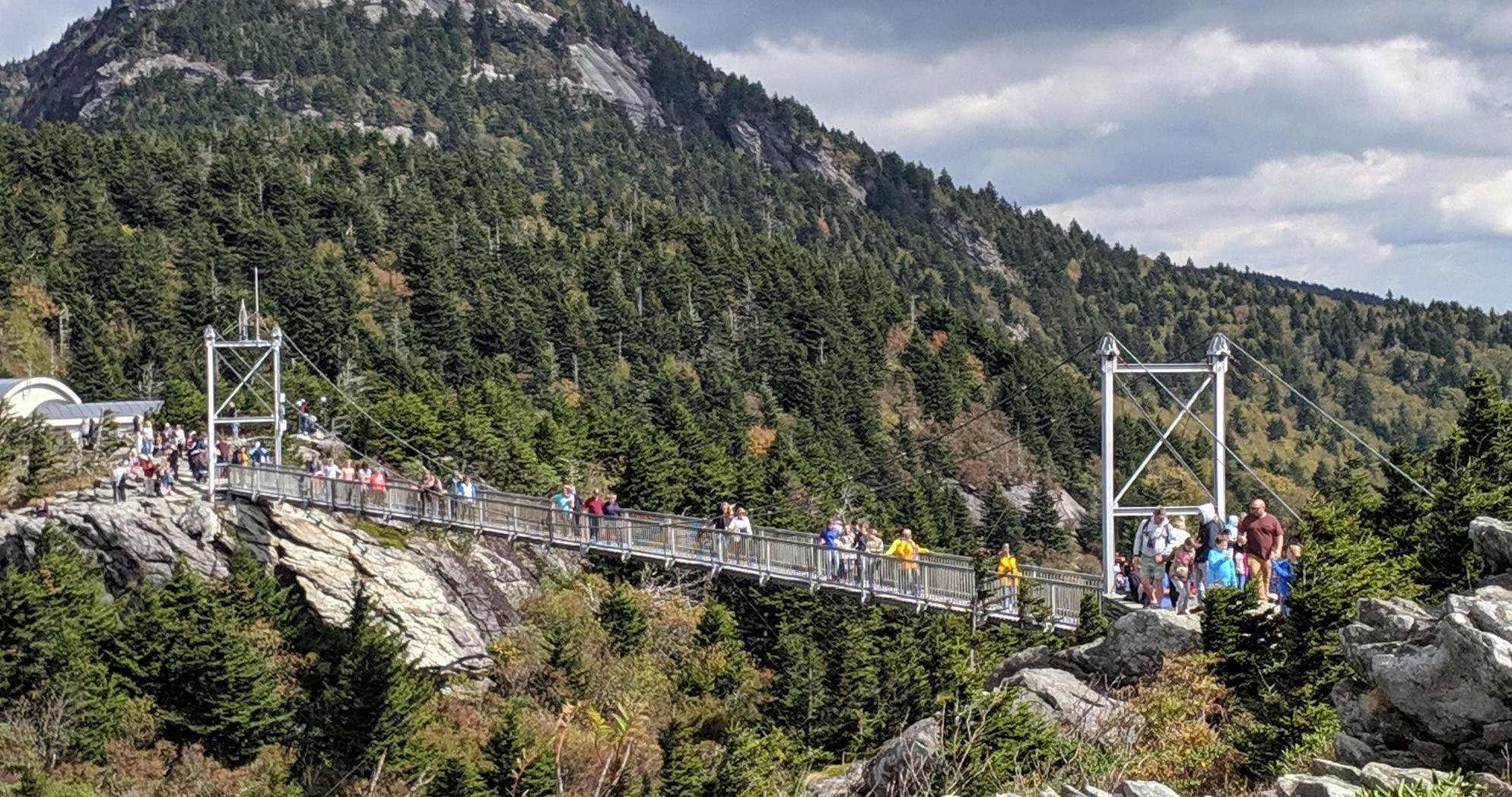 Swinging bridge on Grandfather Mtn
