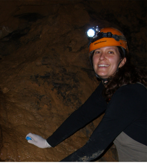 Dr. Brauer in a cave